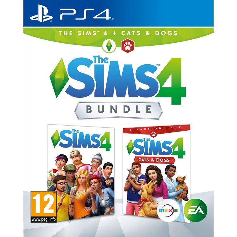 The Sims 4 Game + Cats & Dogs Bundle PS4